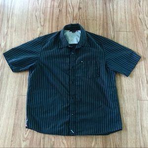 Mens Quiksilver Button Down Shirt Size Large